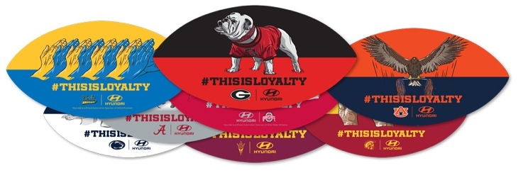 Free Hyundai College Football Team Clings #THISISLOYALTY