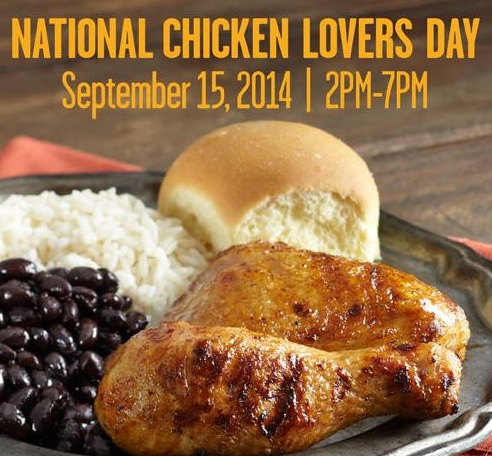 Free 1/4 Chicken Meal at Pollo Tropical (9/15)