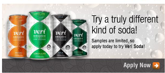 Free Veri Soda (Apply, Mom Ambassadors)