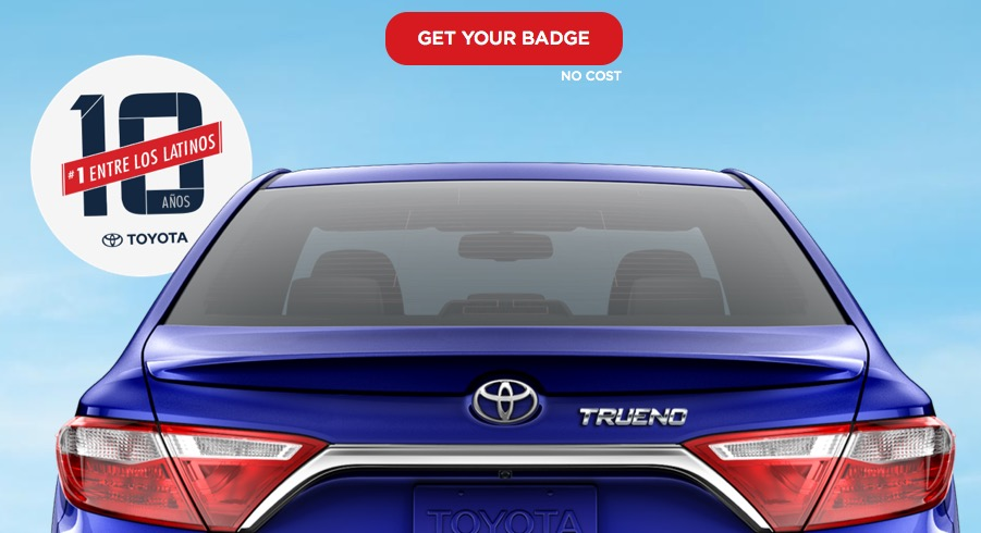 Free Personalized Toyota Badge