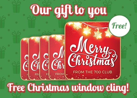 Free Merry Christmas Window Cling