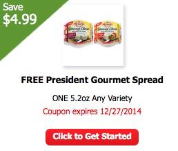 Free President Gourmet Spread at ShopRite