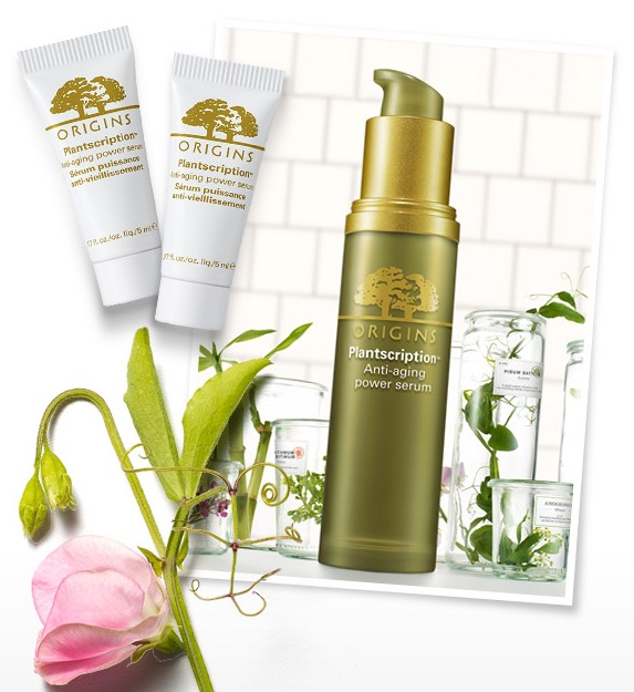 2 Free Plantscription Anti-Aging Power Serum Samples at Origins