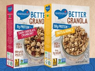 Free Barbara's Better Granola Oats & Honey + Tote Bag (Apply, Mom Ambassadors)