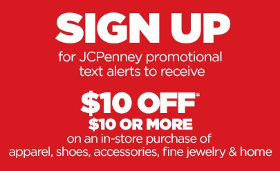 Free $10 Off $10 at JCPenney