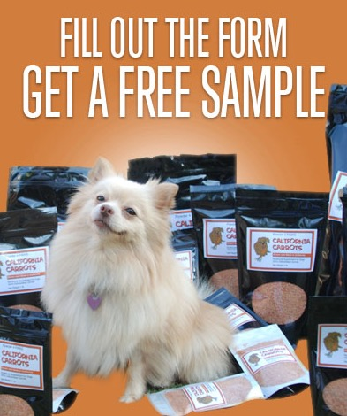 Free Powder 4 PAWS California Carrots Dog Food Supplement Sample