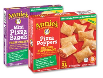 Free Annie's Frozen Mini Pizza Bagels and Pizza Poppers (Apply, Mom Ambassadors)