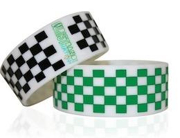 Free Glow-in-the-Dark Checkered Wristband
