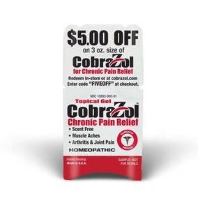 Free CobraZol Chronic Pain Relief Sample
