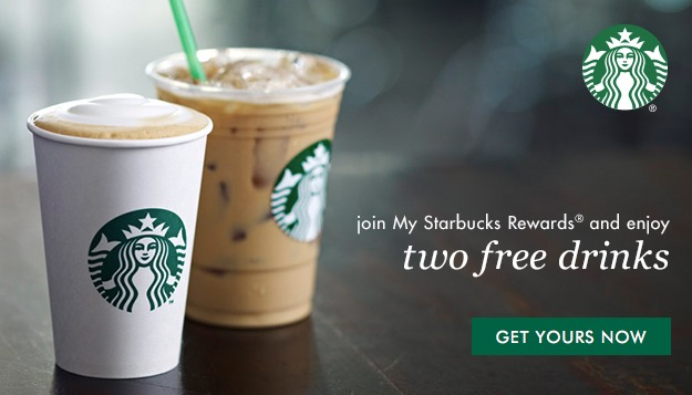 2 Free Drinks at Starbucks for New Starbucks Rewards Members