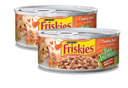 Free Can of Friskies Tasty Treasures Accented With Real Bacon