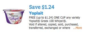 Free Yoplait Greek 100 Whips Yogurt From Pillsbury