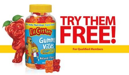 Free L'il Critters Gummy Vitamins (Apply)