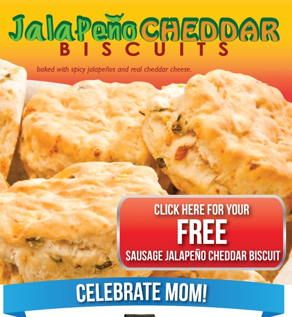 Free Sausage or Jalapeno Cheddar Biscuit at Waffle House