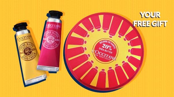 Free L'Occitane Sharing Shea Butter Hand Cream Tin (In-Store)