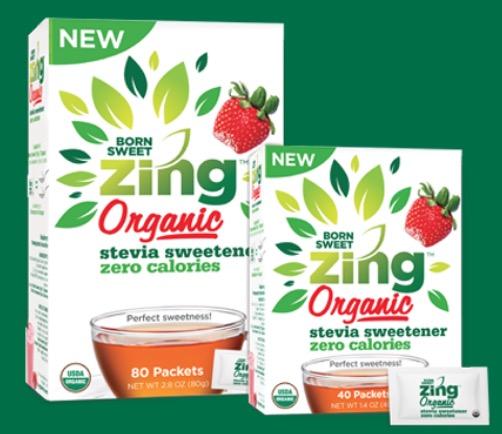 Free Zing Zero Calorie Stevia Sweetener Sample