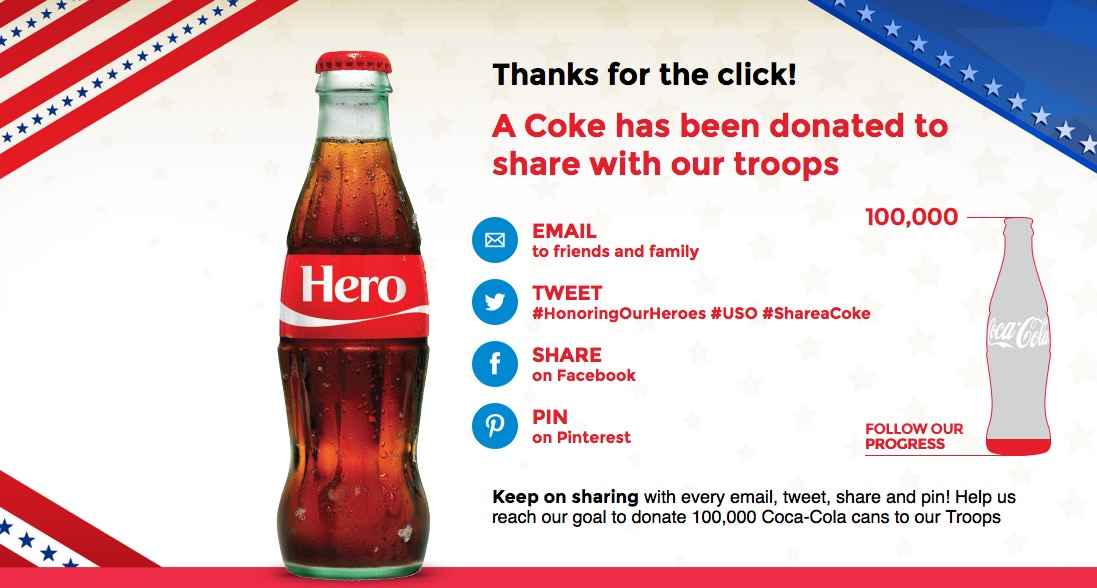 Kroger: Free Coca-Cola to Our Troops