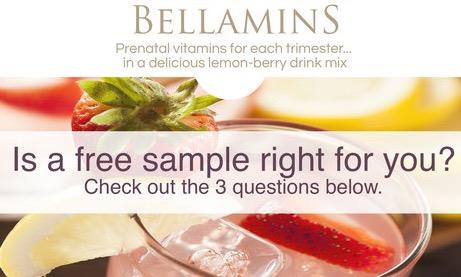 Free Bellamins Prenatal Vitamins Sample
