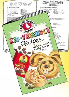 Free Sun-Maid Kid-Friendly Recipes Cookbook Booklet