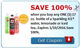 Free Bottle of Sparkling ICE Water