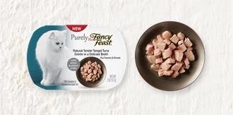 Free Purely Fancy Feast Cat Food Sample