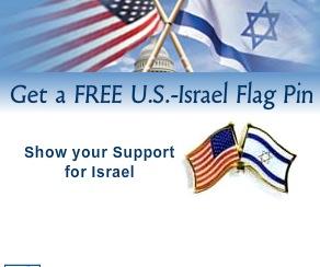 Free Canada-Israel Flag Pin