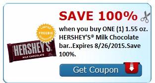 Free HERSHEY'S Milk Chocolate Bar