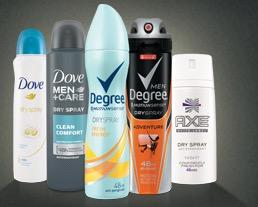 Free Dove or Degree Dry Spray Antiperspirant Sample (MD, MA, NJ, NY, PA, VA)