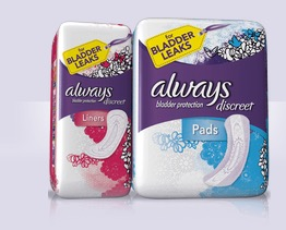 Free Always Incontinence Liner and Pad Multi-Pack Sample