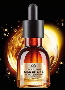 Free Deluxe Oils of Life Intensely Revitalising Facial Oil Sample at the Body Shop (Fb)