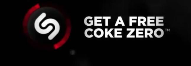 Free 20 Oz Coke Zero w/ Shazam App