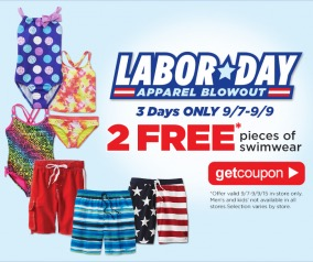 2 Free Pieces of Swimwear at Sears Outlet Stores