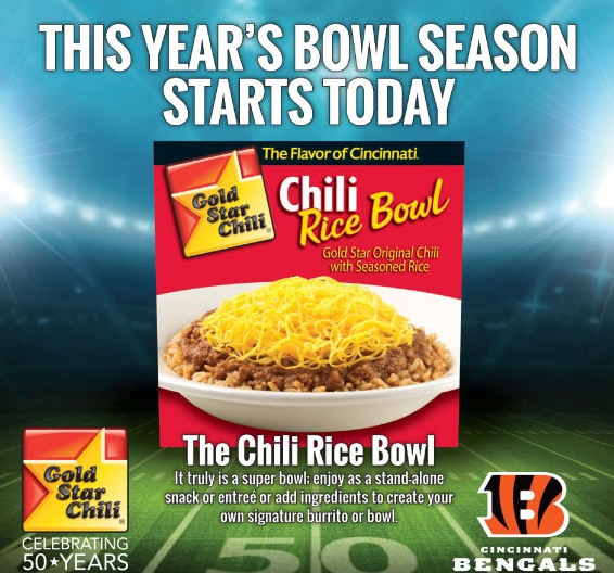 Free Gold Star Chili Rice Bowl