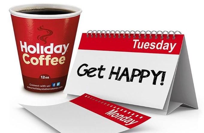 Free Cup of Coffee at Holiday Station Stores