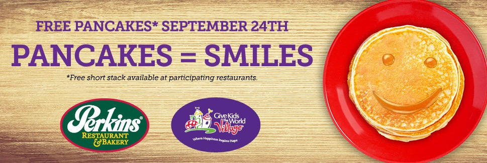 Free Pancakes at Perkins (9/24)