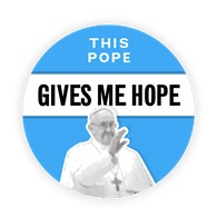 Free This Pope Gives Me Hope Sticker