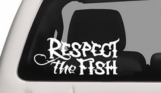 Free Respect The Fish Decal