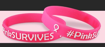 Free Pink Survives Wristband