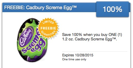 Free Cadbury Screme Egg