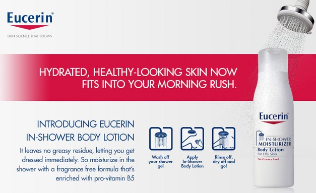 Dr. Oz Show: Free Bottle of Eucerin In-Shower Moisturizer Body Lotion (10/28 at 3pm ET)