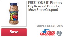 Free Planters Dry Roasted Peanuts at Price Chopper