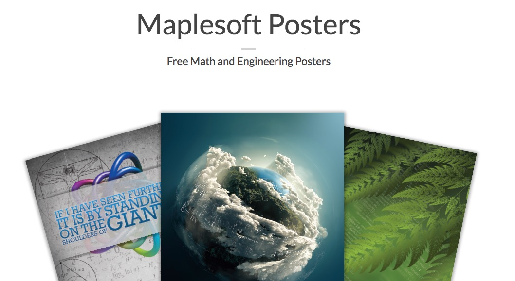 Free Maplesoft Math and Engineering Posters