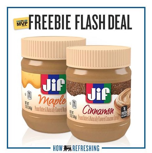 Free Jar of Jif Maple or Cinnamon Peanut Butter at Food Lion