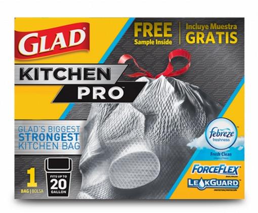 Free Glad KitchenPro Trash Bags Sample at Walmart