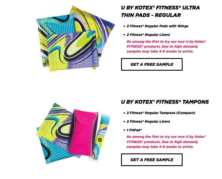 Free U by Kotex Fitness Sample Pack