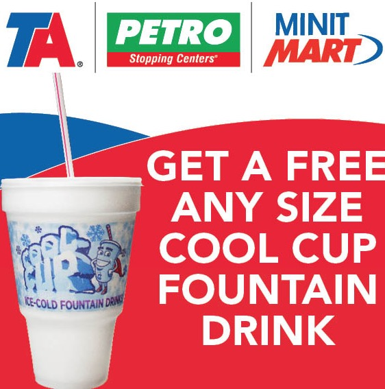 Ta Petro Com >> Free Cool Cup Fountain Drink At Ta Petro And Minit Mart