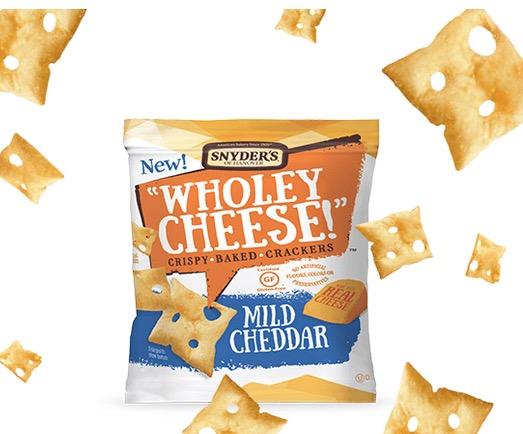 Free Wholey Cheese! Crackers Sample at Walmart