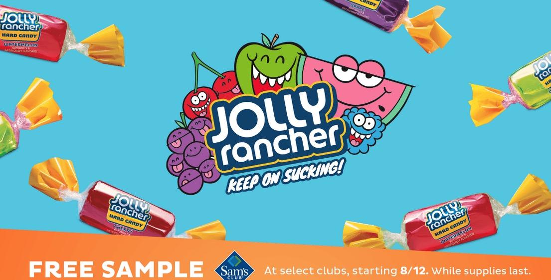 Free Jolly Rancher Hard Candy Sample at Sam's Club