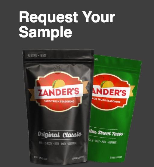 Free Zander's Taco Truck Seasoning Sample  Packet