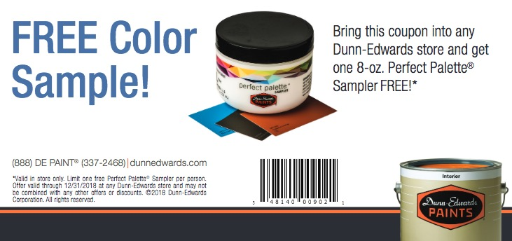 Free Perfect Palette Paint Sampler